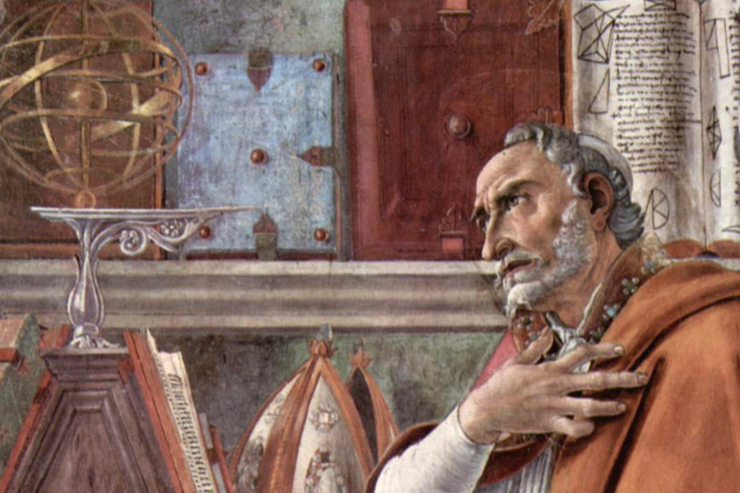 ST. AUGUSTINE by Botticelli
